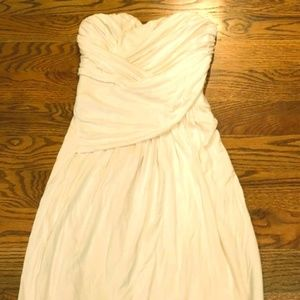 Women's Express XS White Strapless Dress